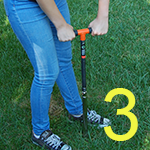 Image demonstrating Step 3: Collection of a soil sample
