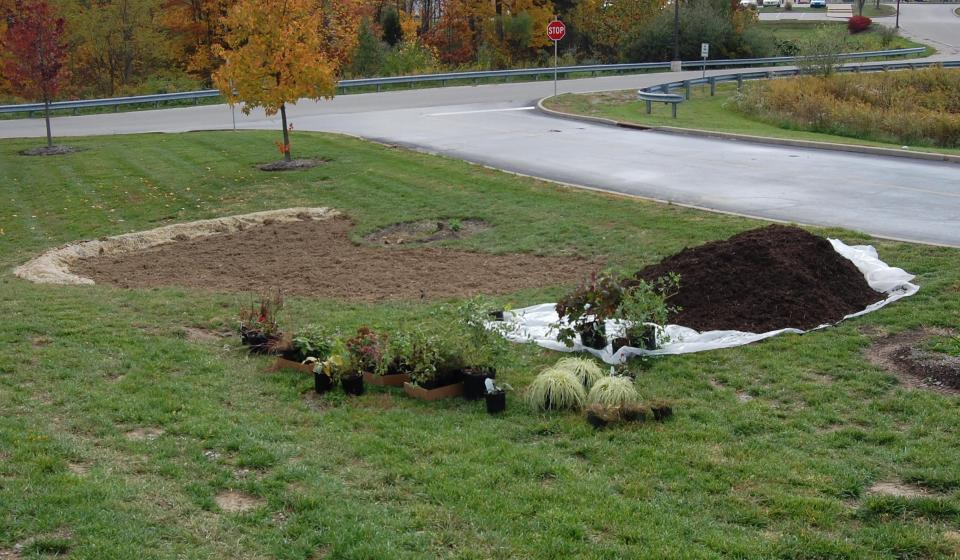 Rain Garden Construction at Boone County Extension Office