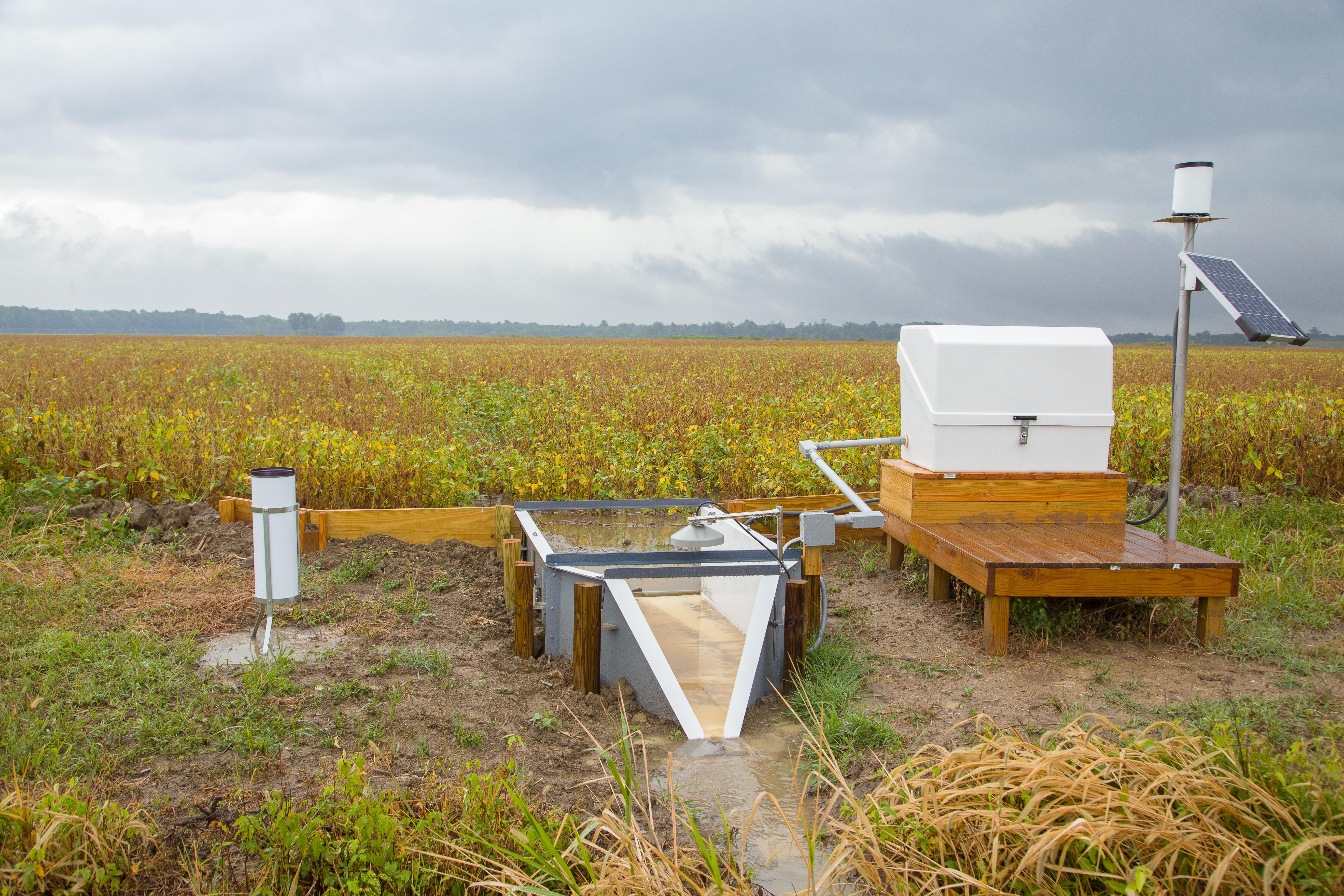 Image shows edge of field monitoring for surface runoff.
